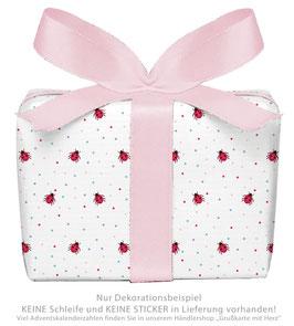 3 Bögen Geschenkpapier groß - KÄFER- ROSA