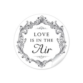 """Love ist in the Air"" - Vintage Ornamente - schwarz weiß"