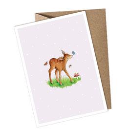 REHKITZ 1 Postkarte + Umschlag