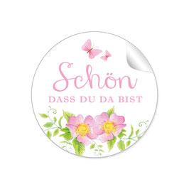 """""""Schön, dass du da bist"""" -Rosen  - rosa"""
