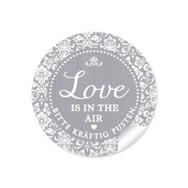 """Love ist in the Air"" - Shabby Chic - grau"