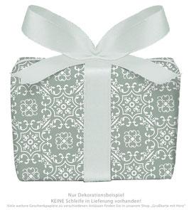 3 Bögen Geschenkpapier groß - Ornamente - grün