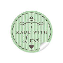 """Made with Love""- Vintage Retro Style - grün"