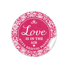 """Love ist in the Air"" - Shabby Chic - fuchsia rot"