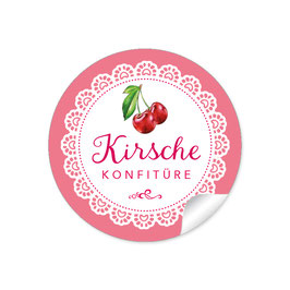 """Kirsche Konfitüre""- Spitze - rot"