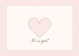"""""""It´s a girl!"""" - Herz - Rosa"""