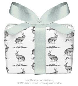 3 Bögen Geschenkpapier groß - OSTERHASE FROHE OSTERN SCHWARZ WEIß gedruckt auf PEFC™ zertifiziertem Papier