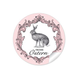 """Frohe Ostern"" - Hase Vintage - rosa"