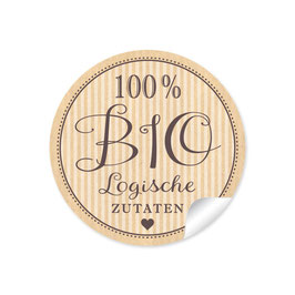 """100% BIO Logische Zutaten- Retro Style - Natur"