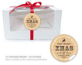 "BIO BOX SET - ""Merry XMAS"" Retro - natur"