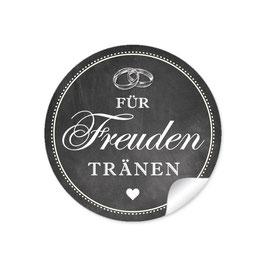 """""""Für Freudentränen"""" - Ringe - Kreidetafel / schwarz"""