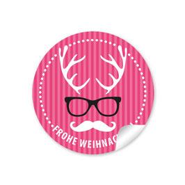 """""""Frohe Weihnachten""""  - Hipster Hirsch - pink"""