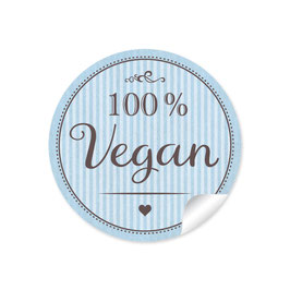 """100% Vegan"" - blau"