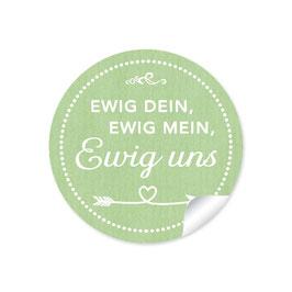 """""""Ewig dein, ewig mein, ewig uns""""- Shabby Chic Style -grün"""