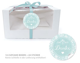 "BIO BOX SET - ""Danke"" Shabby Chic - mint"