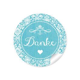 """""""Danke"""" - Ornamente Vintage - türkis"""