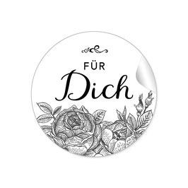 """""""Für Dich"""" - Rosen -  schwarz"""
