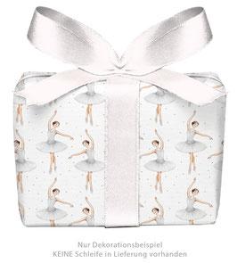 3 Bögen Geschenkpapier - Ballerina weiß - gedruckt auf PEFC zertifiziertem Papier, 50 x 70 cm