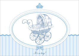 """It´s a boy!"" - Kinderwagen - Blau"