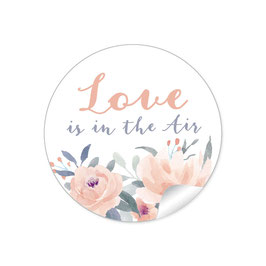 """Love ist in the Air"" - Pastell Blüten lachs Apricot"
