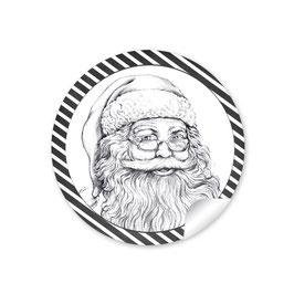 Weihnachtsmann  - schwarz weiß