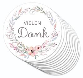12 ANHÄNGER • Vielen Dank • Pastell Blüten Kranz