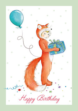"""Happy Birthday"" - Kostüm Fuchs - Grün"