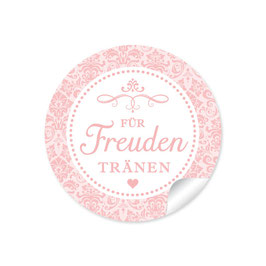 """Für Freudentränen"" - Vintage Ornamente - rosa"