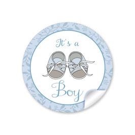 """It`s a boy"" - Babyschühchen - blau"