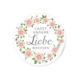 """""""Lasst unsere Liebe wachsen"""" - Rosenkranz - rosa"""
