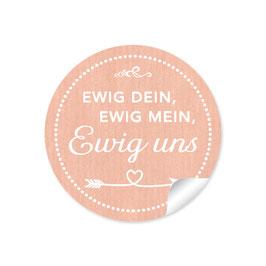 """""""Ewig dein, ewig mein, ewig uns""""- Shabby Chic Style -apricot"""
