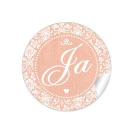 """Ja"" - Shabby Chic Style - apricot"