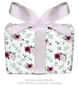 3 Bögen Geschenkpapier groß - Rosen Boho