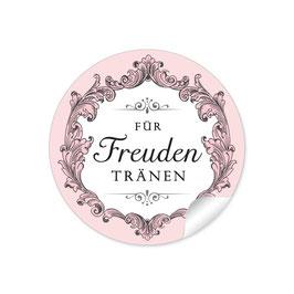 """""""Für Freudentränen"""" - Ornamente Floral - schwarz / rosa"""