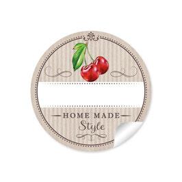 """""""Home Made Style""""- Kirsche - beige"""