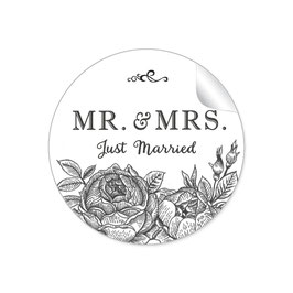 """MR. and MRS.  - Just married"" - Rosen- schwarz"