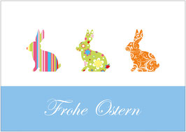 """Frohe Ostern""  - Bunte Hasen - Bunt"