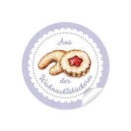 """Aus der Weihnachtsbäckerei""- Gebäck - lila"