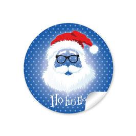 """Ho Ho Ho"" -  Hipster Nikolaus - dunkelblau"