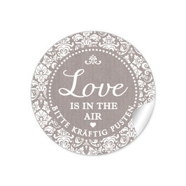 """Love ist in the Air"" - Shabby Chic - sand"