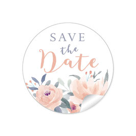 """Save the Date"" - Blüten Aprikot weiß"