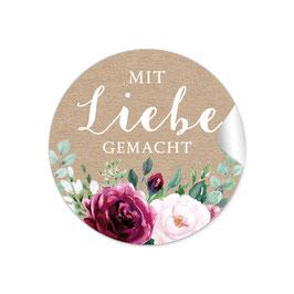 MIT LIEBE GEMACHT - Rosen Boho rot rosa Kraftpapier Look