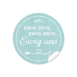 """""""Ewig dein, ewig mein, ewig uns""""- Shabby Chic Style -mint"""