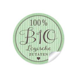 """""""100% BIO Logische Zutaten- Retro Style -Grün"""