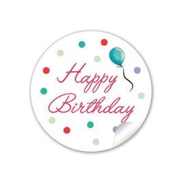 """""""Happy Birthday"""" -  Ballon - rot türkis"""