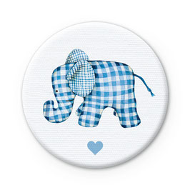 NEU: STOFF BUTTON • Elefant BLAU