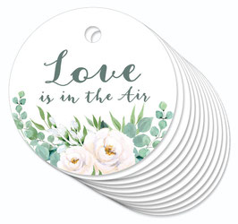12 ANHÄNGER • Love is in the Air • Boho Rosen grün weiß
