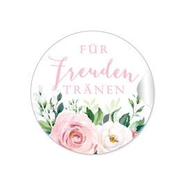 Für Freudentränen - Rosen Blüten rosa weiß grün