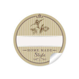 """""""Home Made Style""""- Kräuter - olivgrün - mit Freitextfeld"""