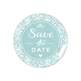 """Save the Date"" - Vintage  Retro Ornamente - mint"